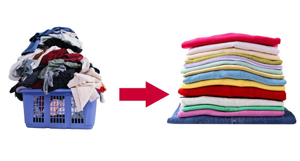 Giặt sạch, sấy khô , gấp gọn chuyên nghiệp